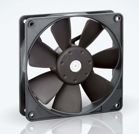 ebm-papst , 12 V dc, DC Axial Fan, 119 x 119 x 25mm, 72m³/h, 720mW, IP20