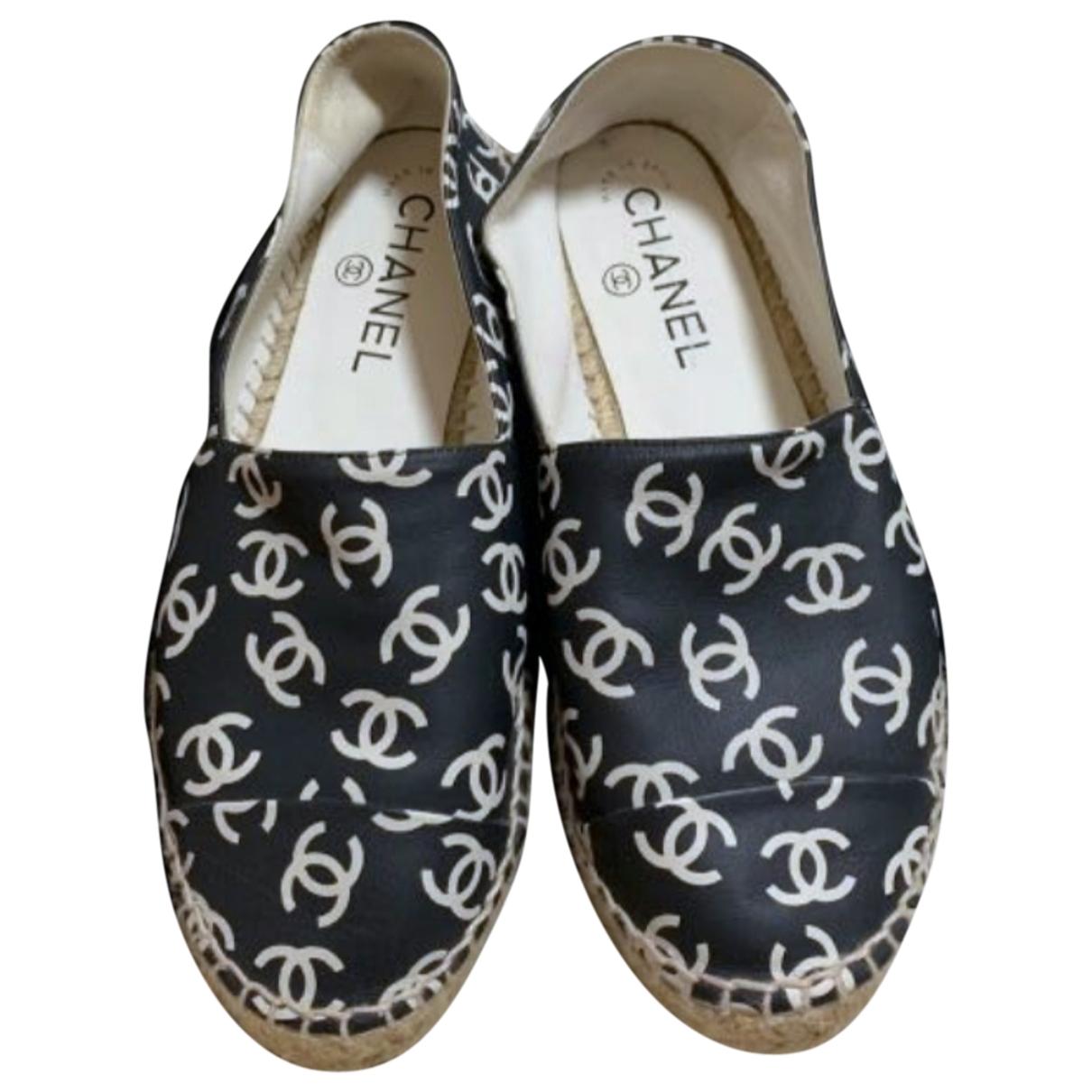 Chanel \N Black Leather Espadrilles for Women 36 EU