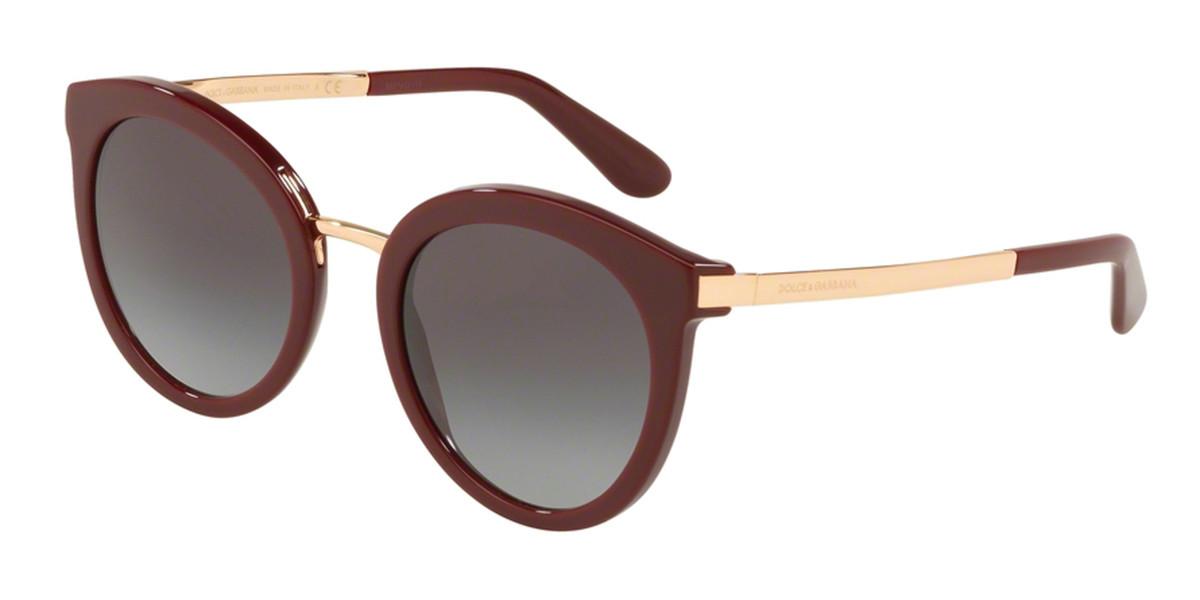 Dolce & Gabbana DG4268F Asian Fit 30918G Women's Sunglasses Burgundy Size 52
