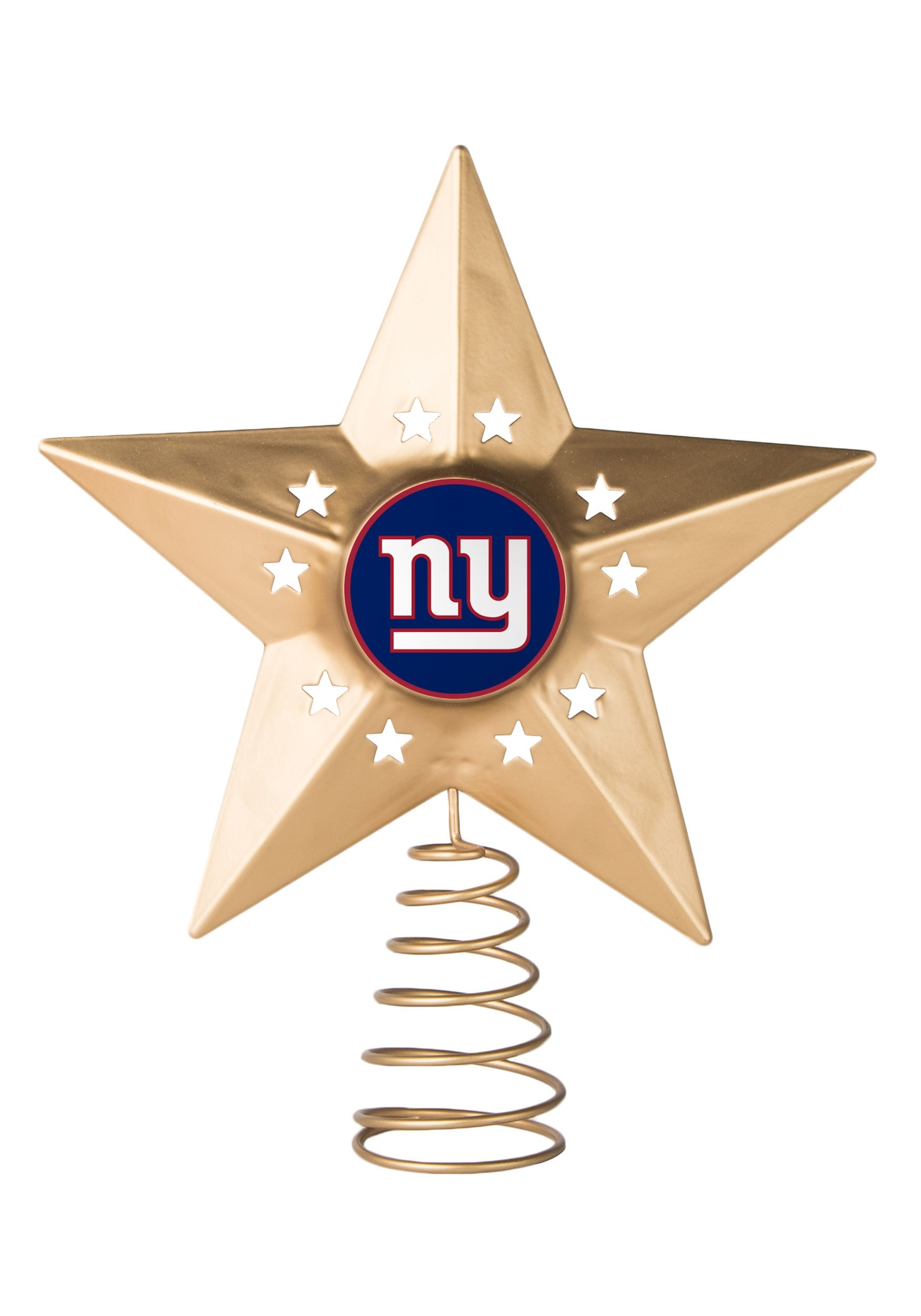 Christmas New York Giants Metal Tree Topper