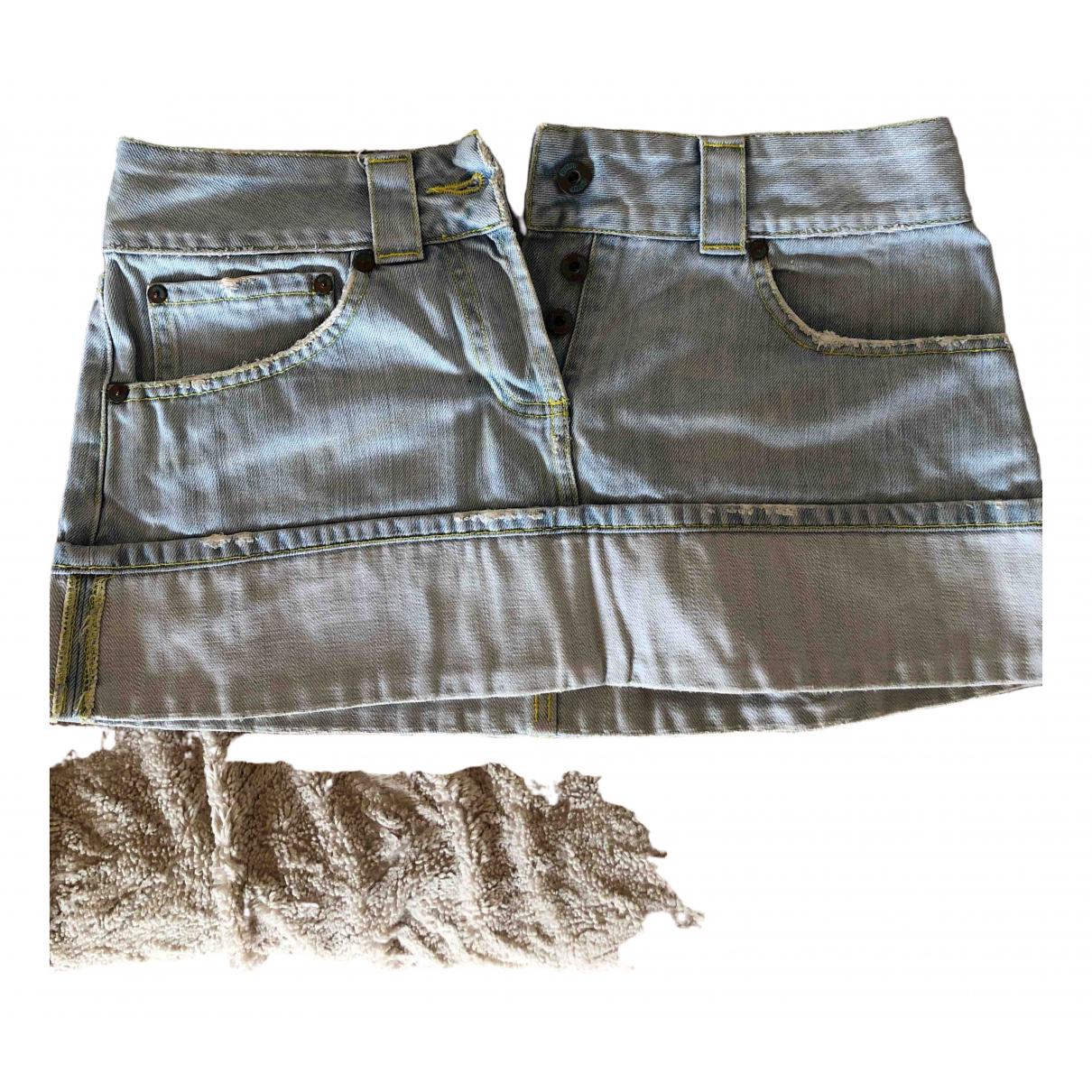 Dondup \N Blue Cotton skirt for Women 38 FR