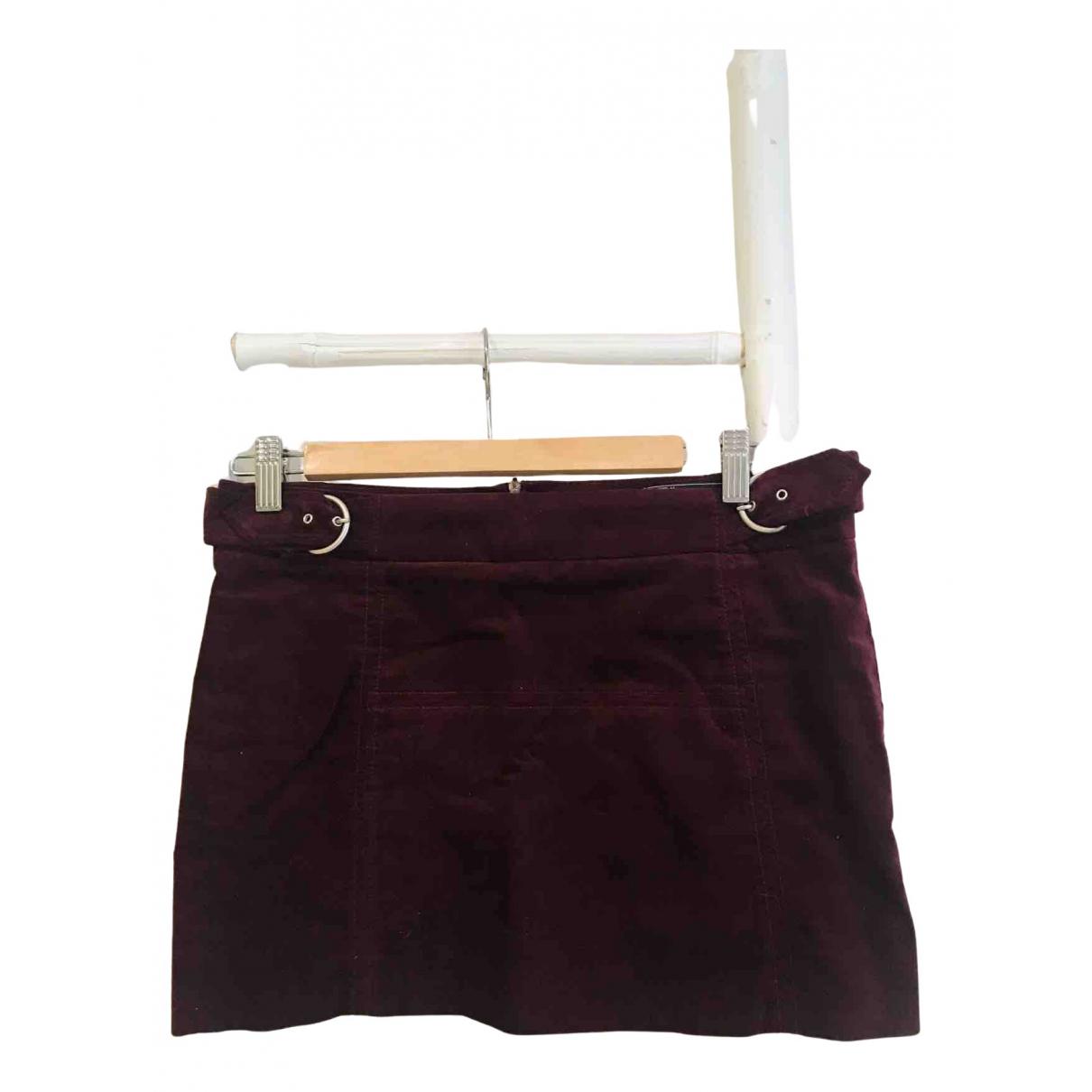 Zara - Jupe   pour femme en coton - bordeaux