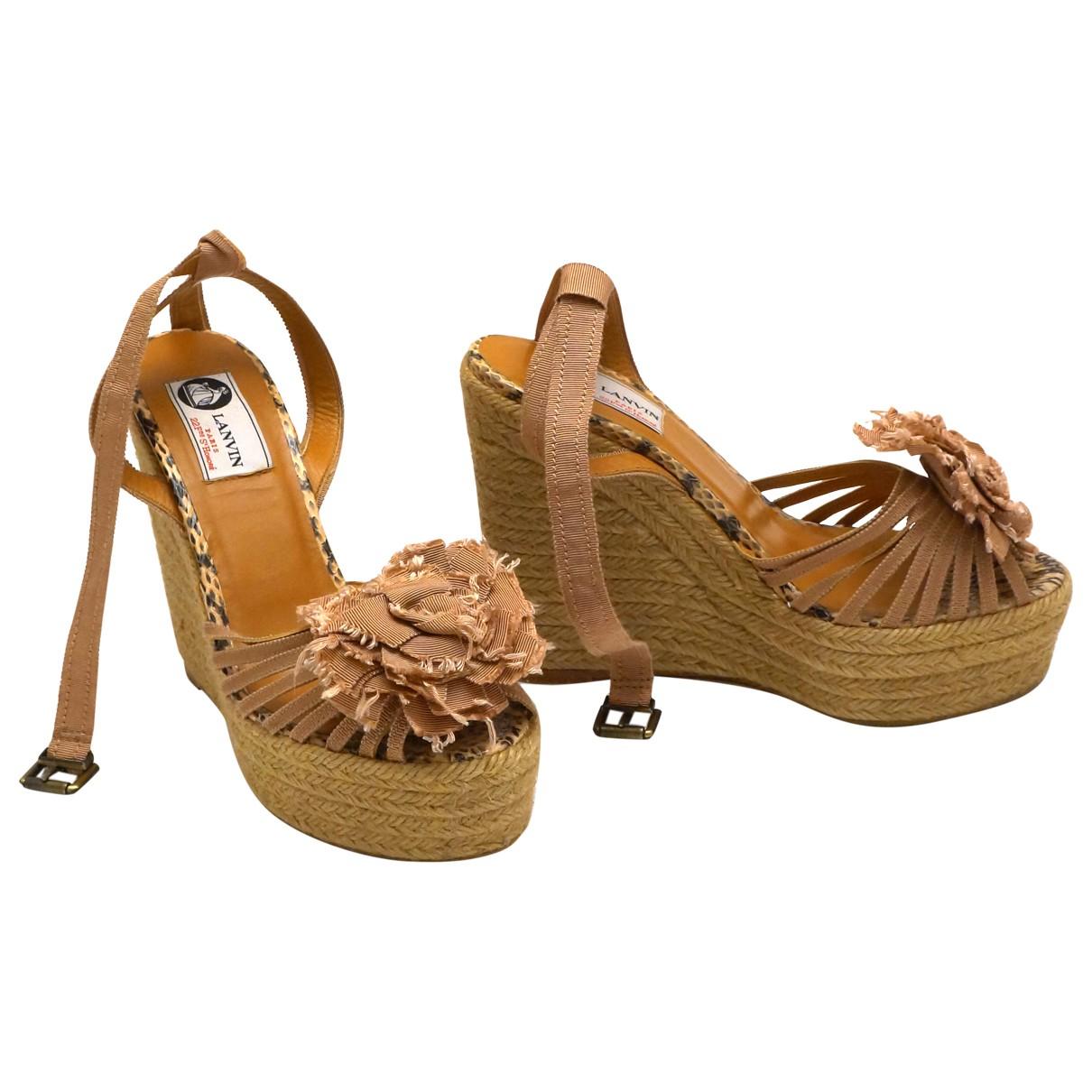 Lanvin \N Pink Cloth Sandals for Women 39 EU