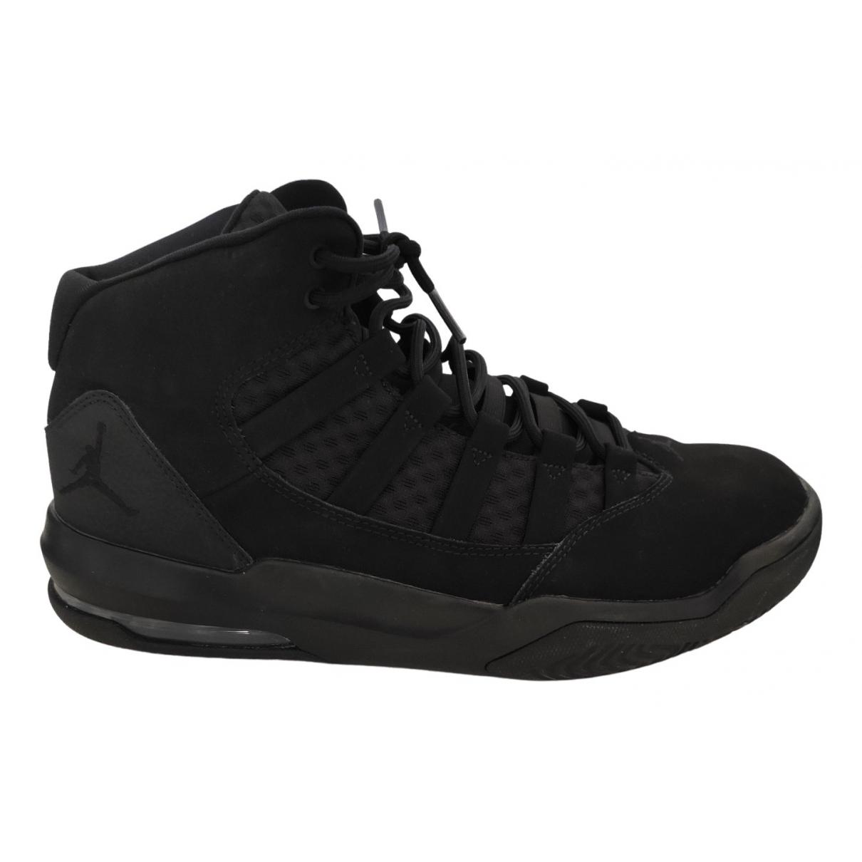 Jordan - Baskets   pour homme en suede - noir