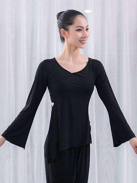 Milanoo Women Latin Dance Uniform Top Slit Modal Dancer Dancing Wears Dancing Costume Halloween
