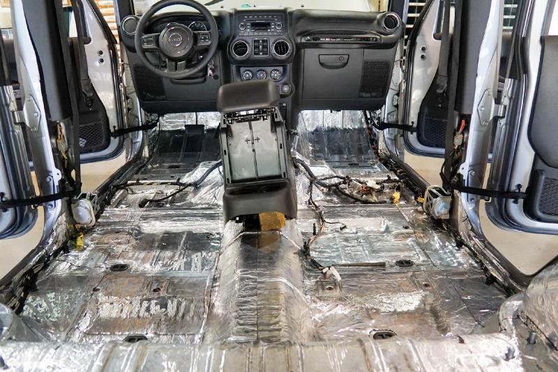 Hushmat 665111 Floor Pan Custom Insulation Kit Jeep Renegade 2015-2018