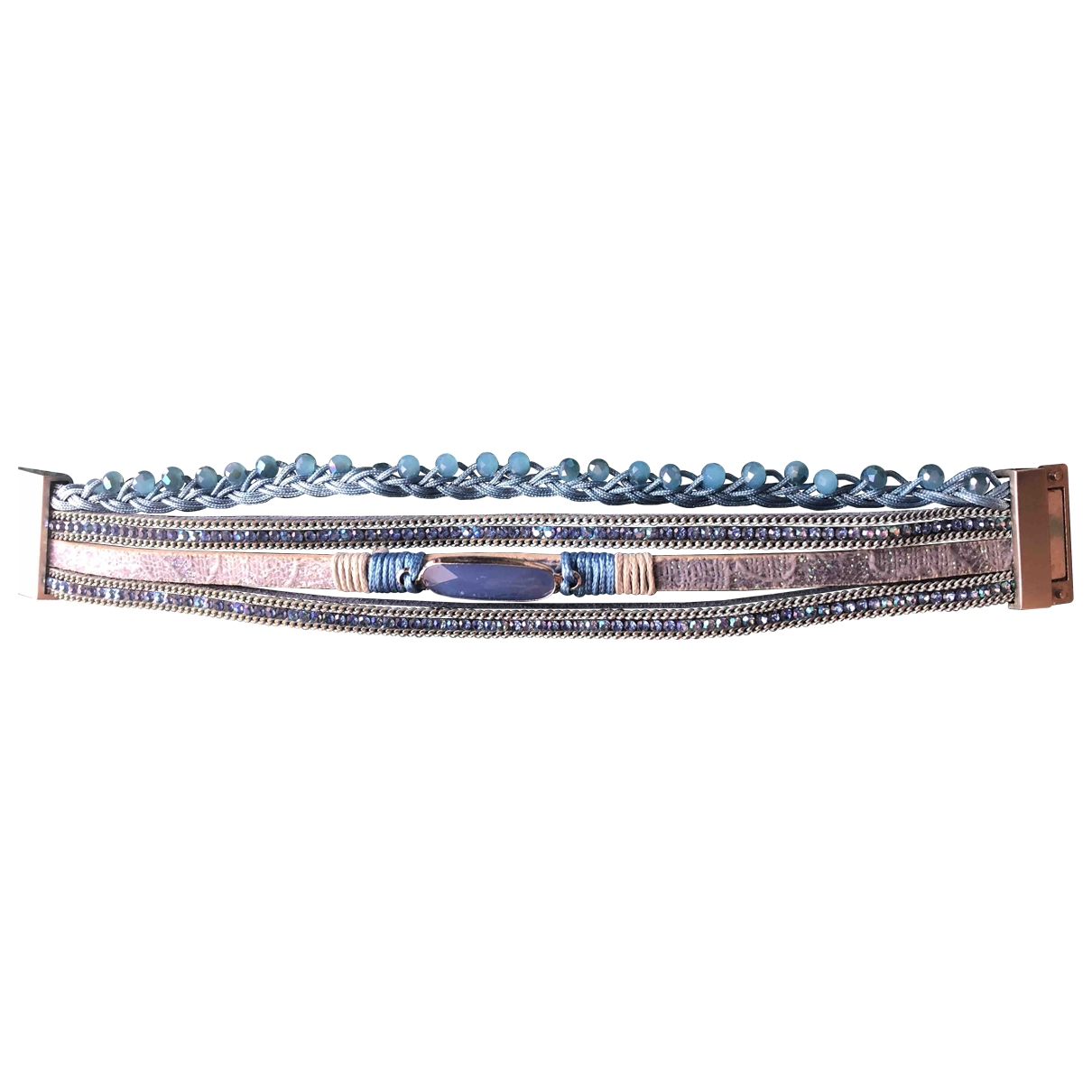 Non Signe / Unsigned \N Armband in  Blau Metall