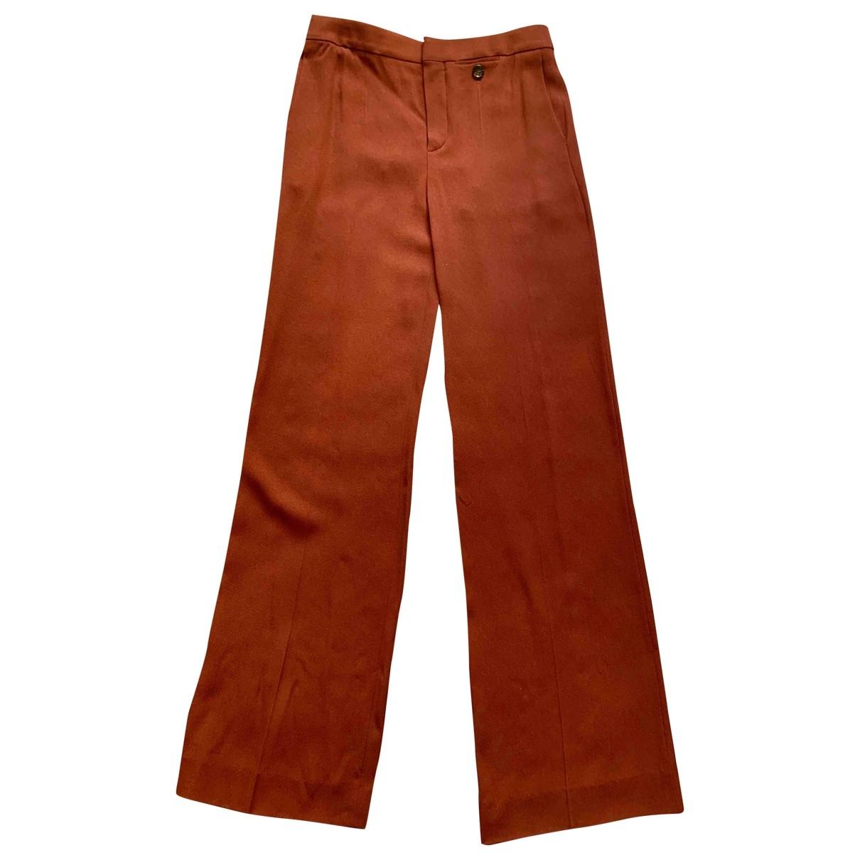 Chloé \N Brown Trousers for Women 38 FR