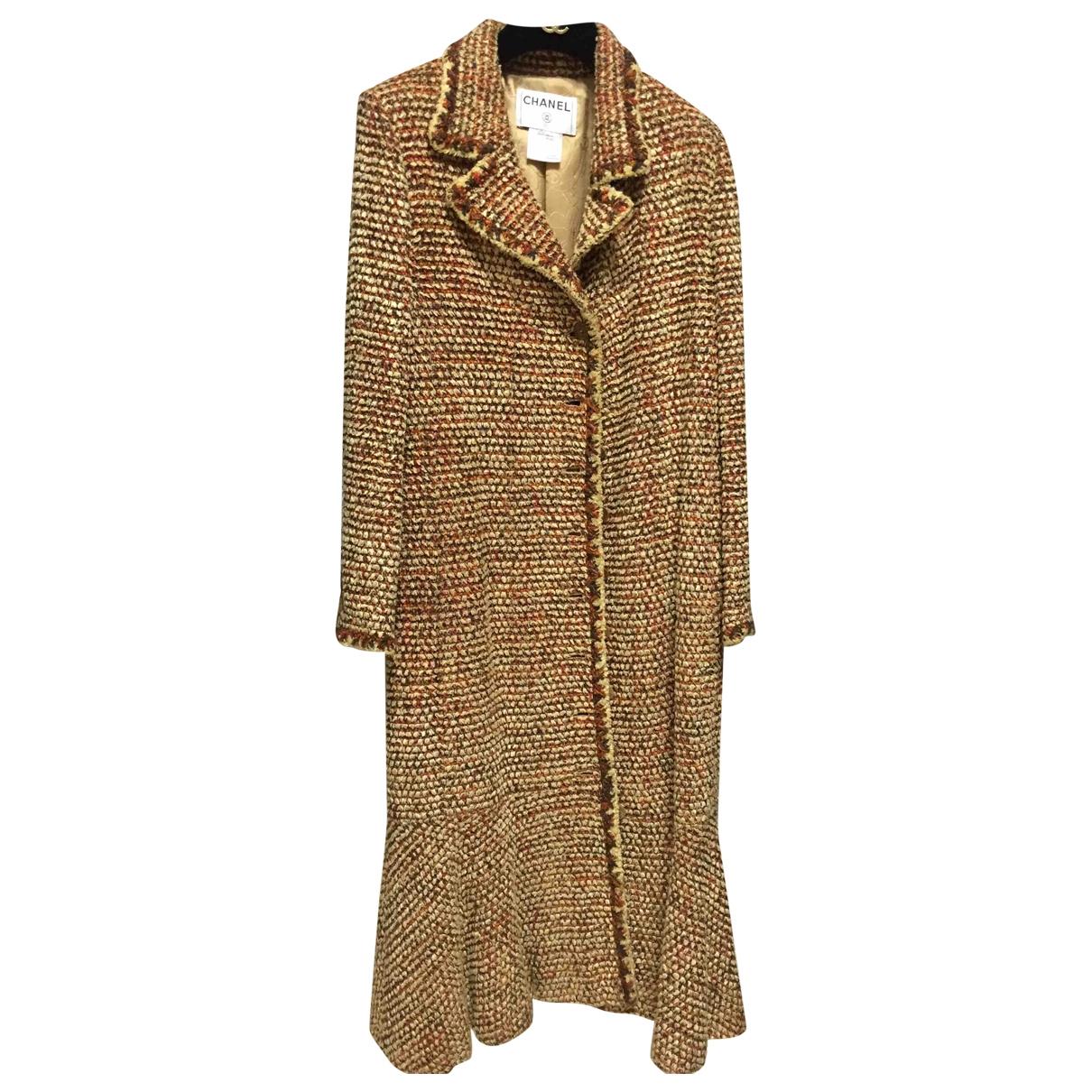 Chanel - Manteau   pour femme en laine - camel