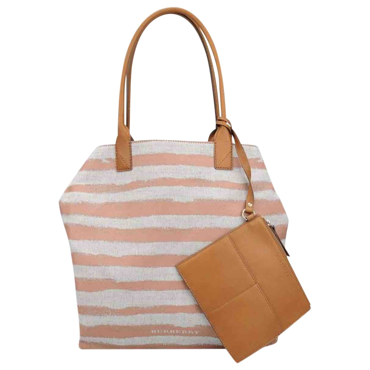 Burberry \N Handtasche in  Bunt Leinen
