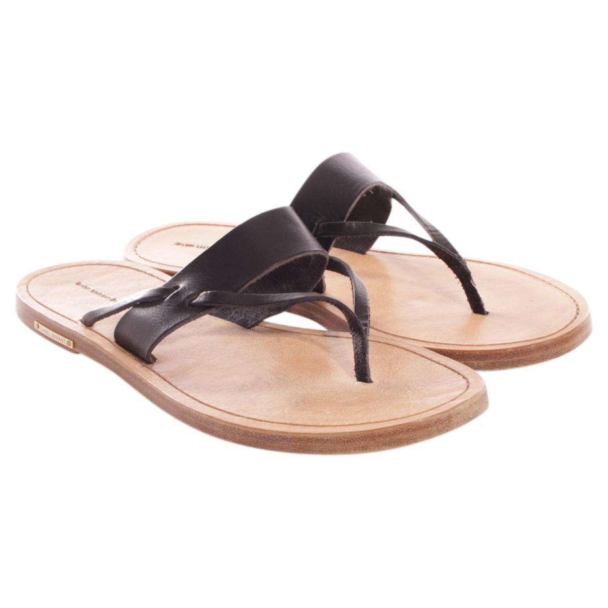 Isabel Marant \N Black Leather Sandals for Women 41.5 EU