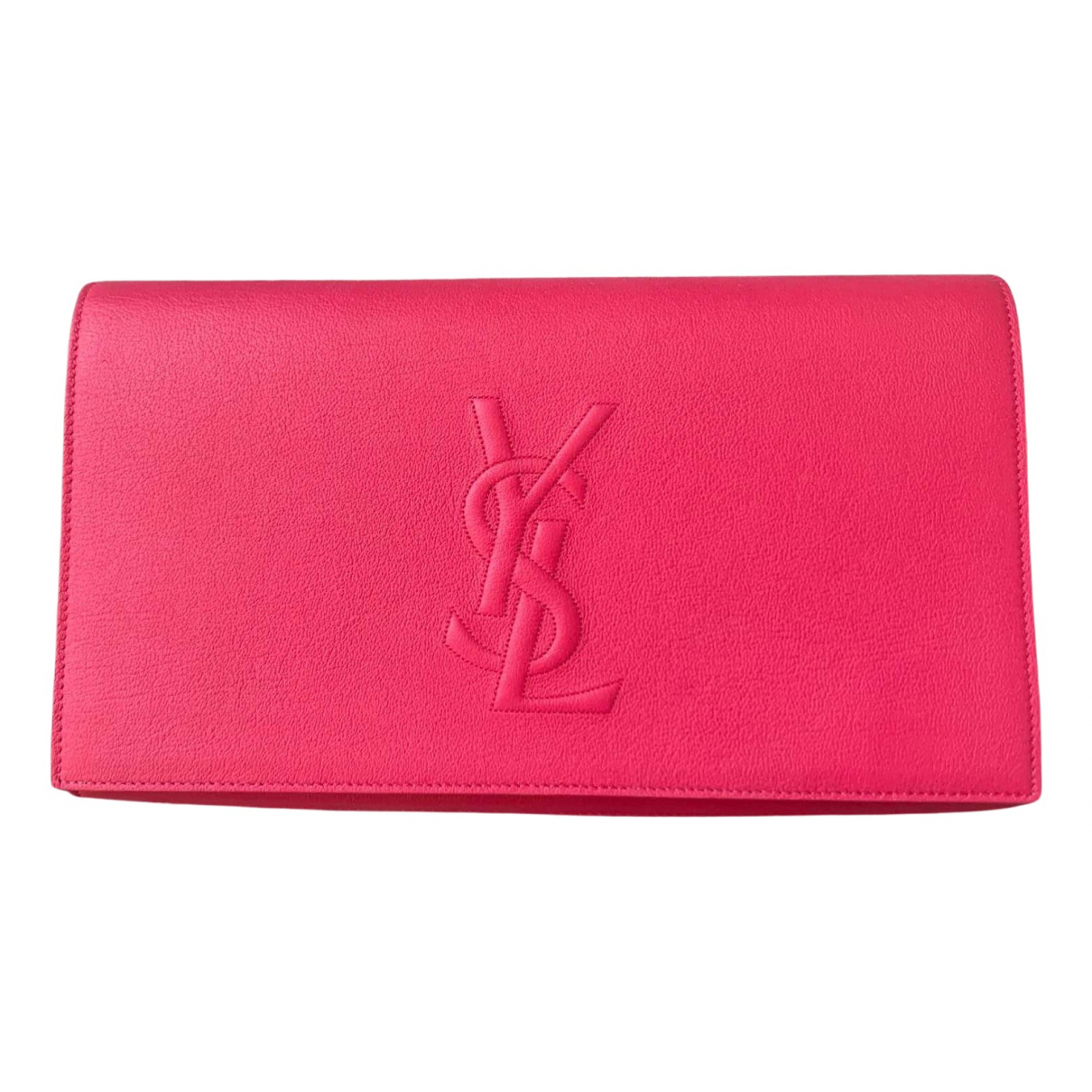 Yves Saint Laurent Belle de Jour Pink Leather Clutch bag for Women N