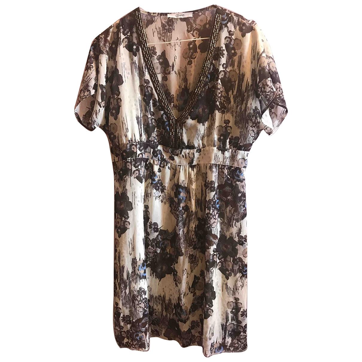 Non Signé / Unsigned \N Multicolour Cotton - elasthane dress for Women 44 IT