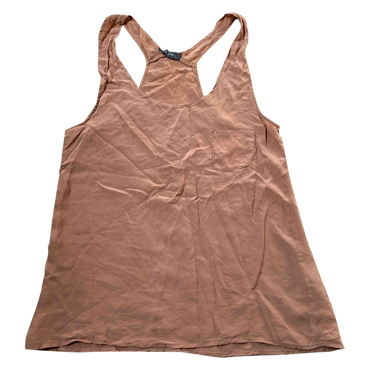 Non Signé / Unsigned \N Camel Silk  top for Women S International