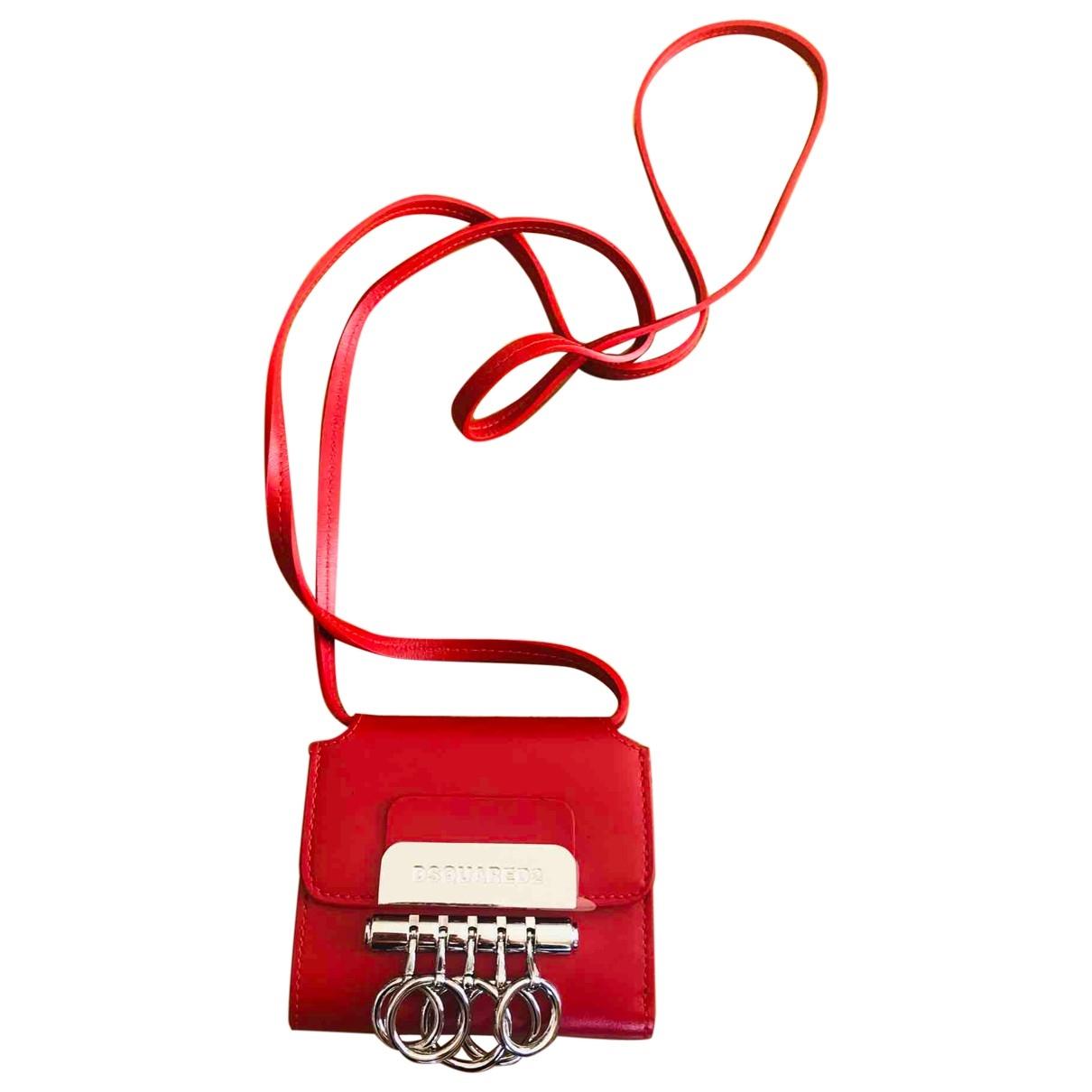 Dsquared2 \N Portemonnaie in  Rot Leder