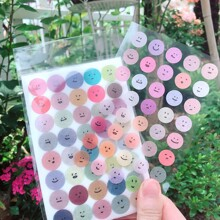 2packs Random Emoji Pattern Sticker