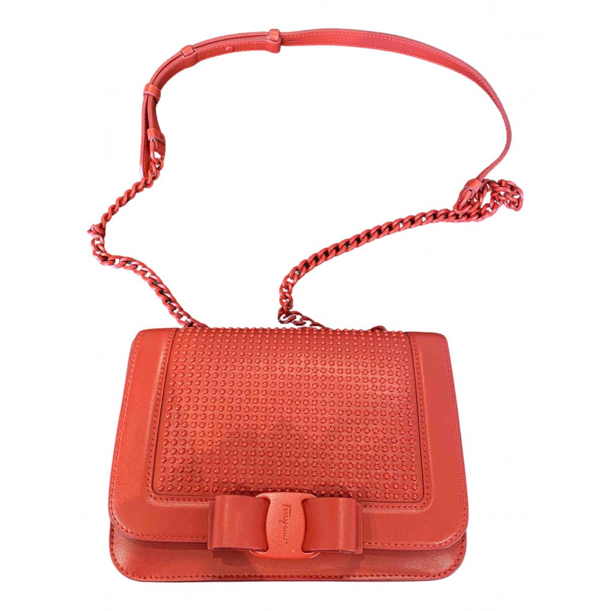 Salvatore Ferragamo Vara Red Leather handbag for Women N