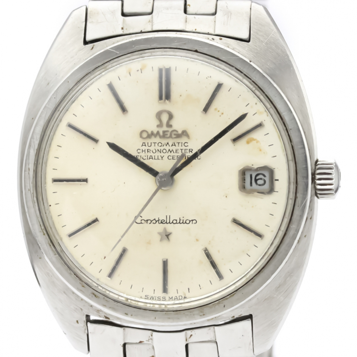 Omega Constellation White Steel watch for Men \N
