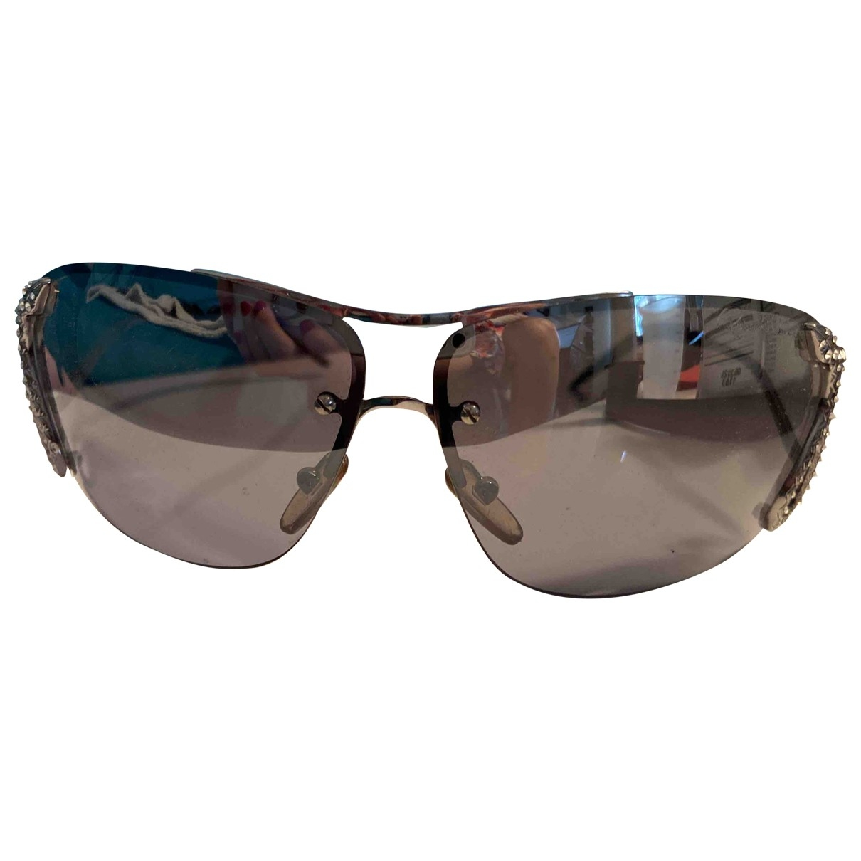 Roberto Cavalli \N Grey Metal Sunglasses for Women \N