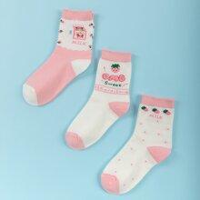 3 Paare Socken mit chinesischen & japanischen Schriften Grafik