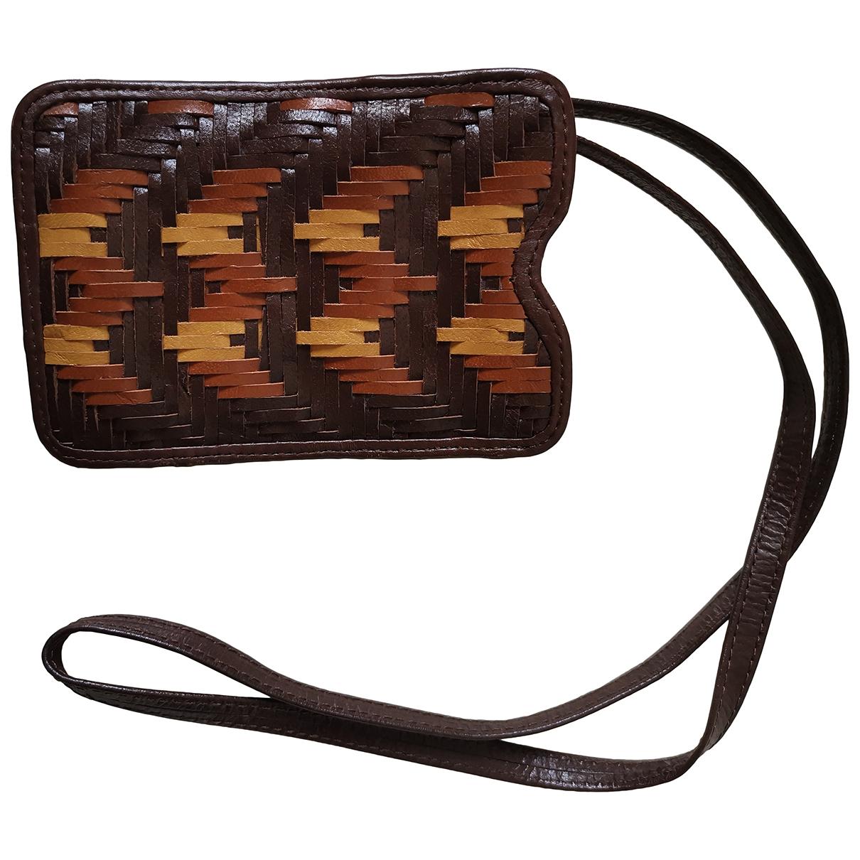 Uterque - Petite maroquinerie   pour femme en cuir - marron