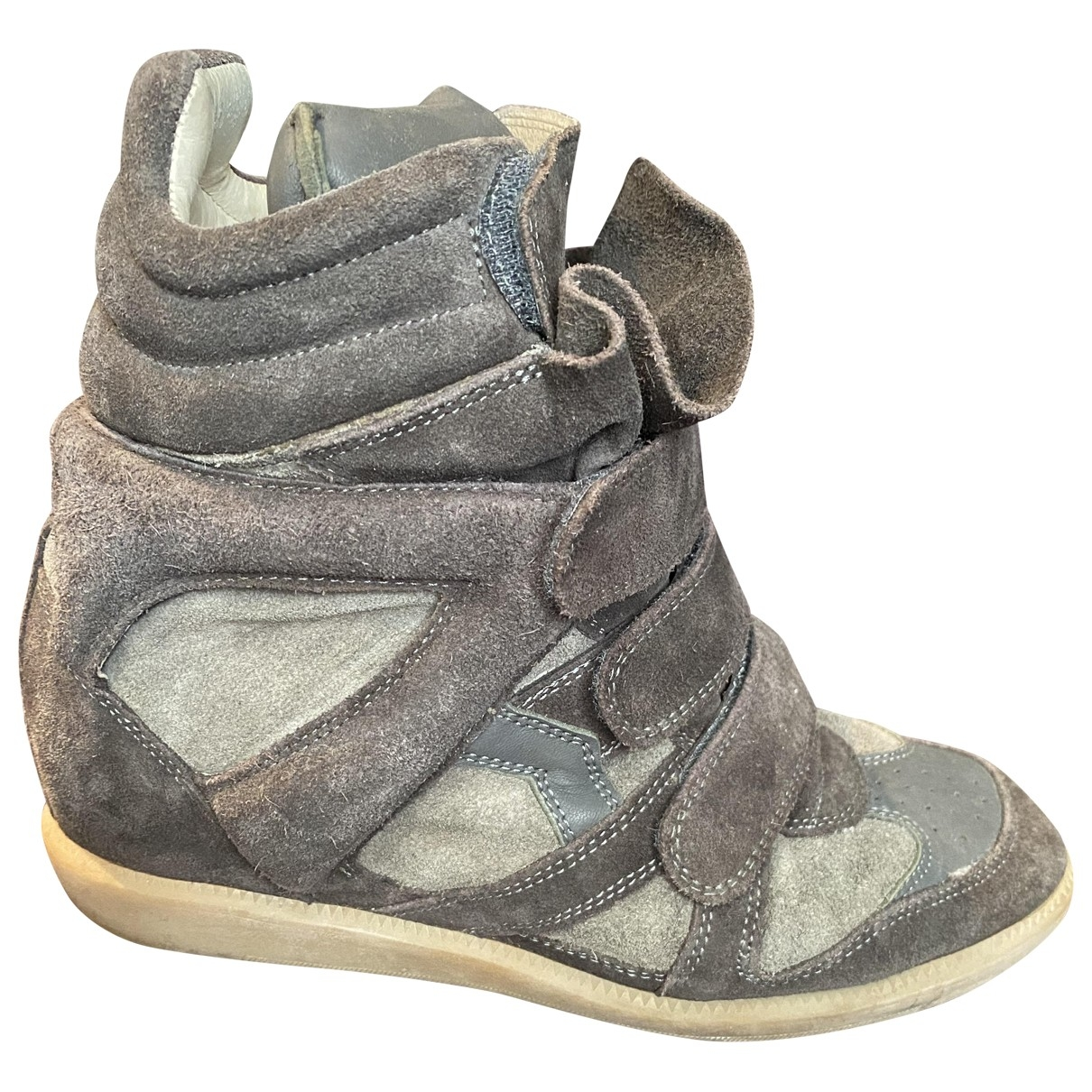 Isabel Marant Beckett Sneakers in  Braun Veloursleder
