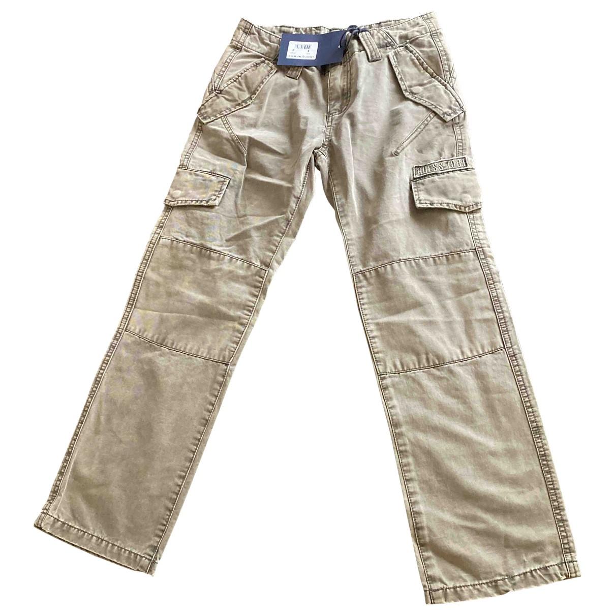 Guess \N Green Cotton Trousers for Women 8 UK