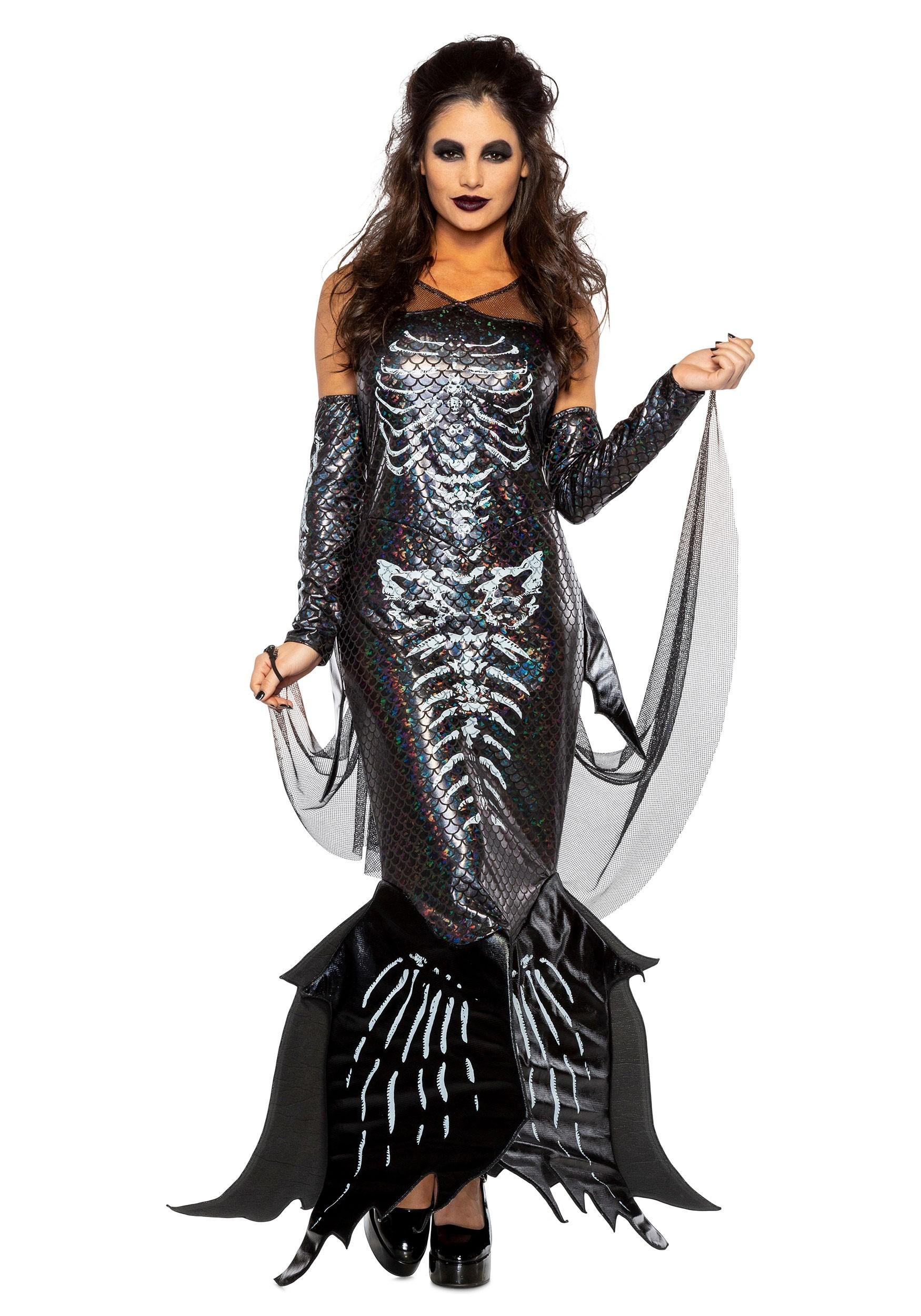 Glamour Skeleton Mermaid Costume for Women