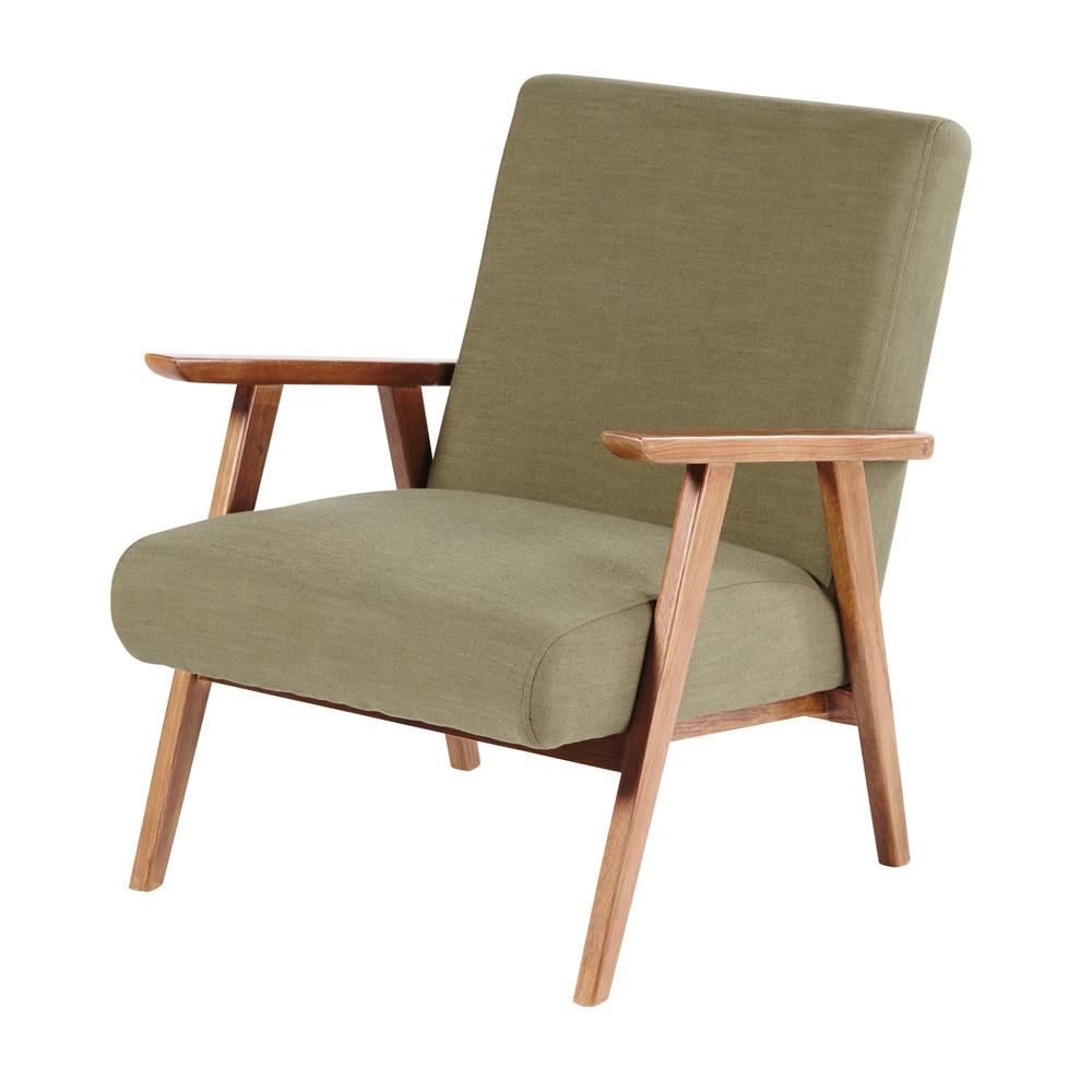 Vintage-Sessel, khakigruen Hermann