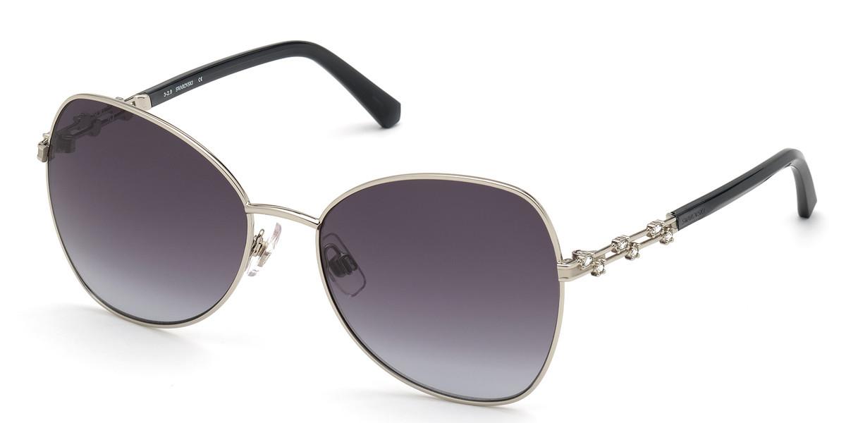 Swarovski SK0290 16B Women's Sunglasses Silver Size 57