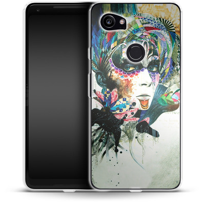 Google Pixel 2 XL Silikon Handyhuelle - Blossom Desire von Minjae Lee