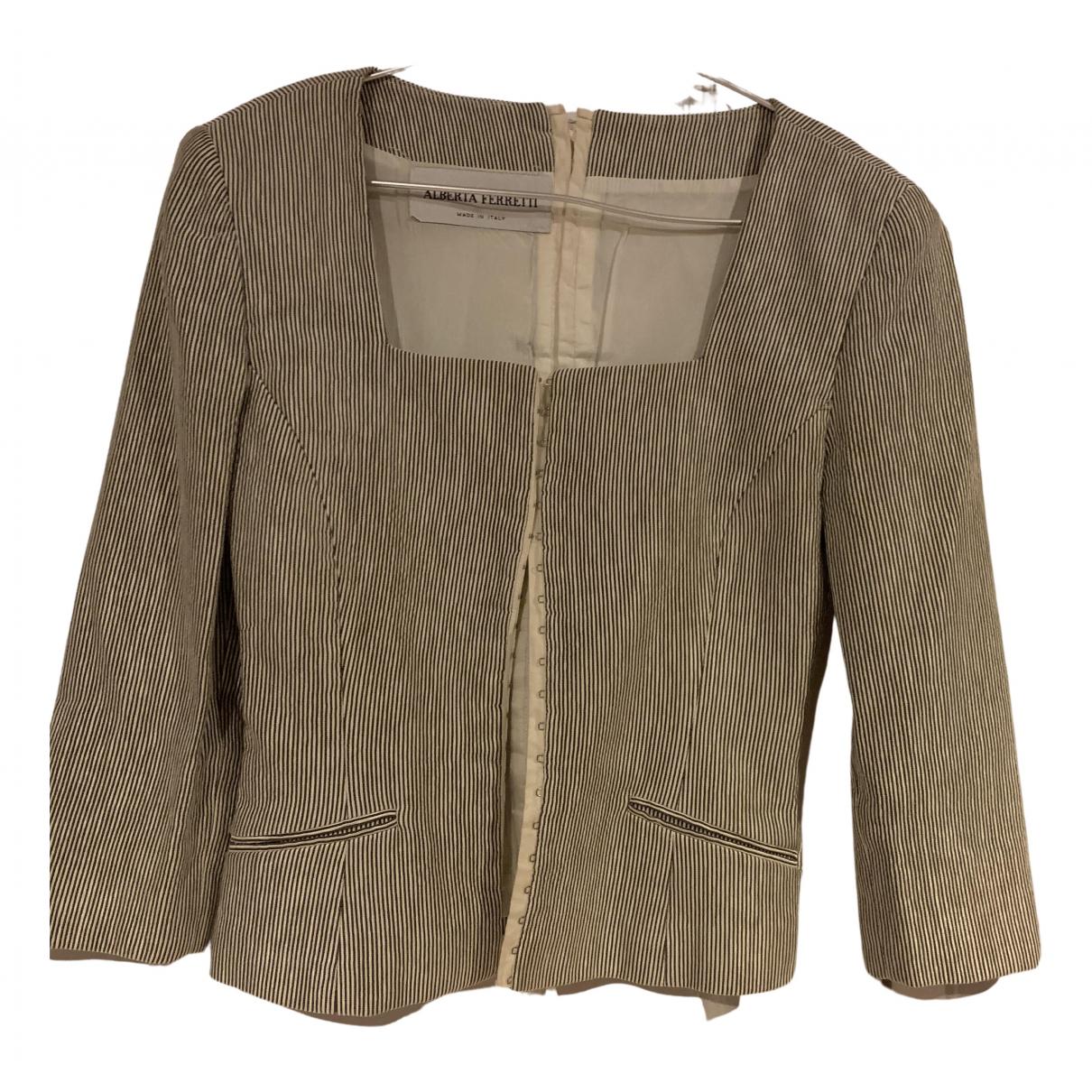 Alberta Ferretti - Veste   pour femme en soie - gris