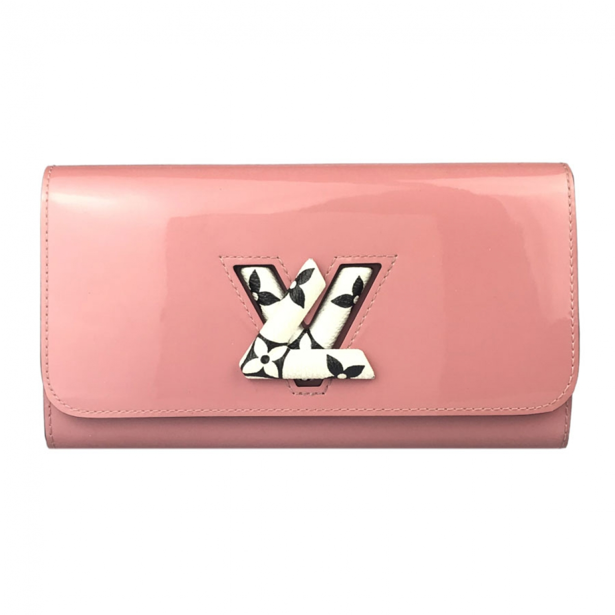 Louis Vuitton Twist Portemonnaie in  Rosa Lackleder
