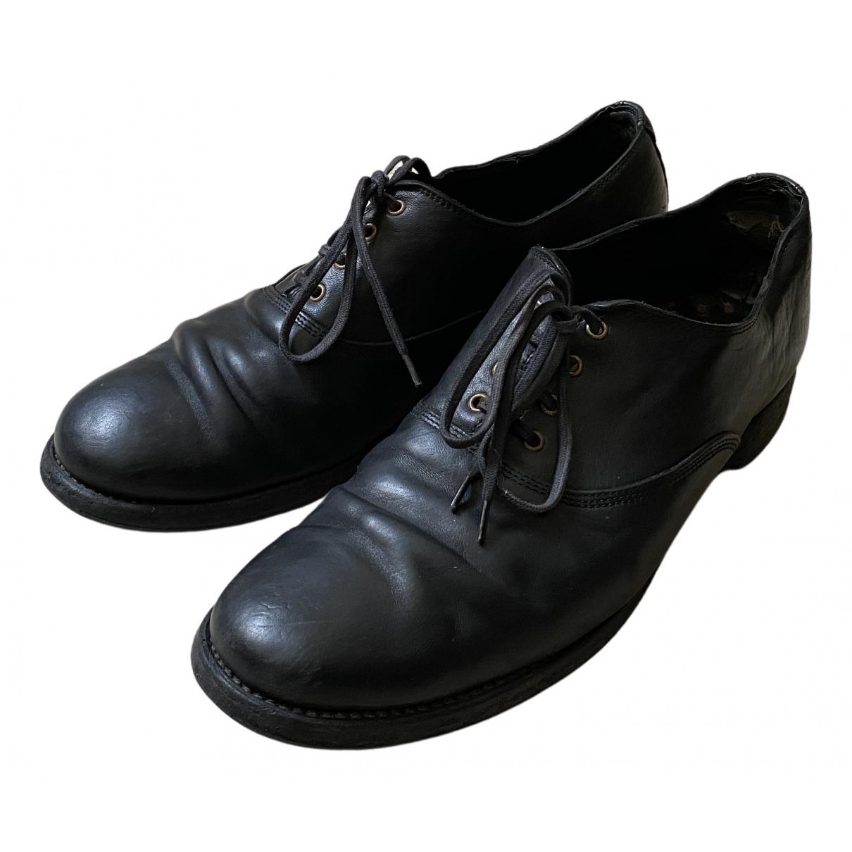 Guidi - Derbies   pour homme en cuir - noir