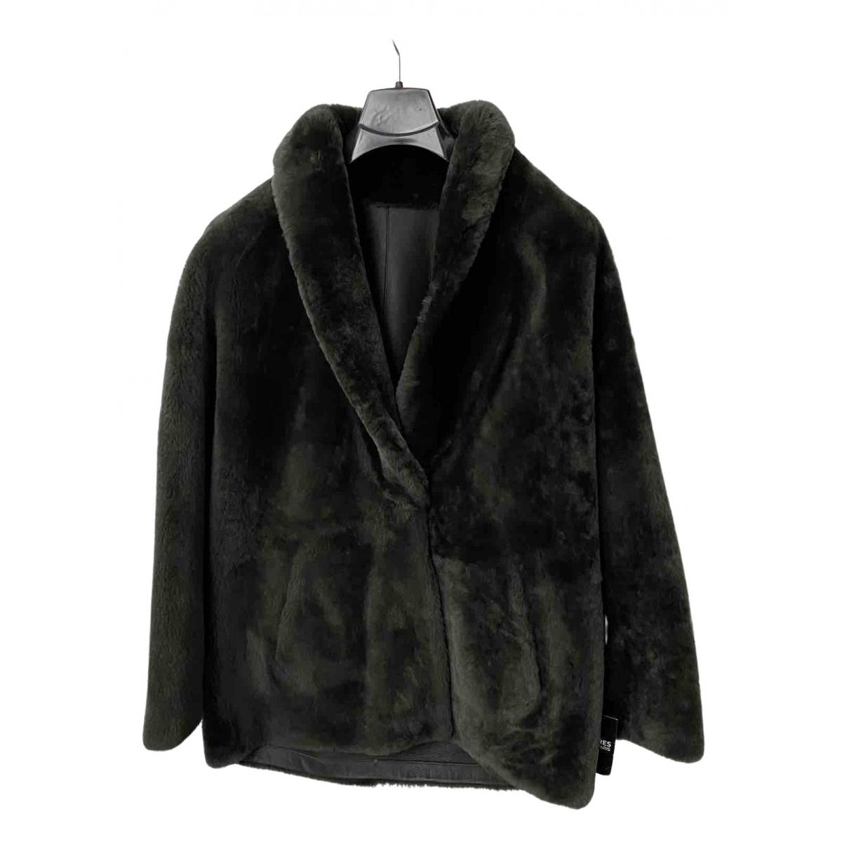 Sprung Frères \N Green Shearling coat for Women S International