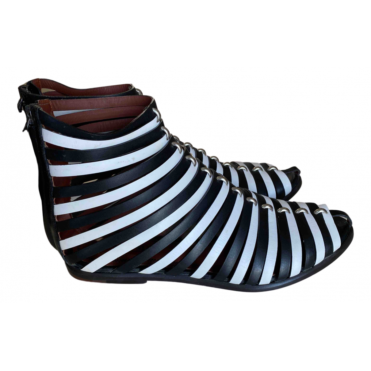 Missoni N Black Leather Ankle boots for Women 38 EU
