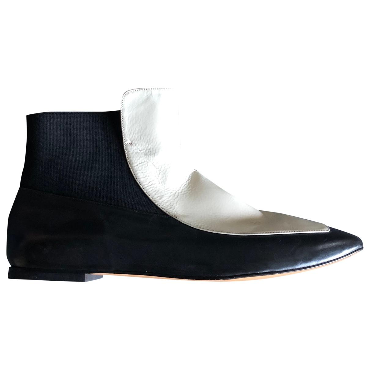 Castaner - Boots   pour femme en cuir - noir