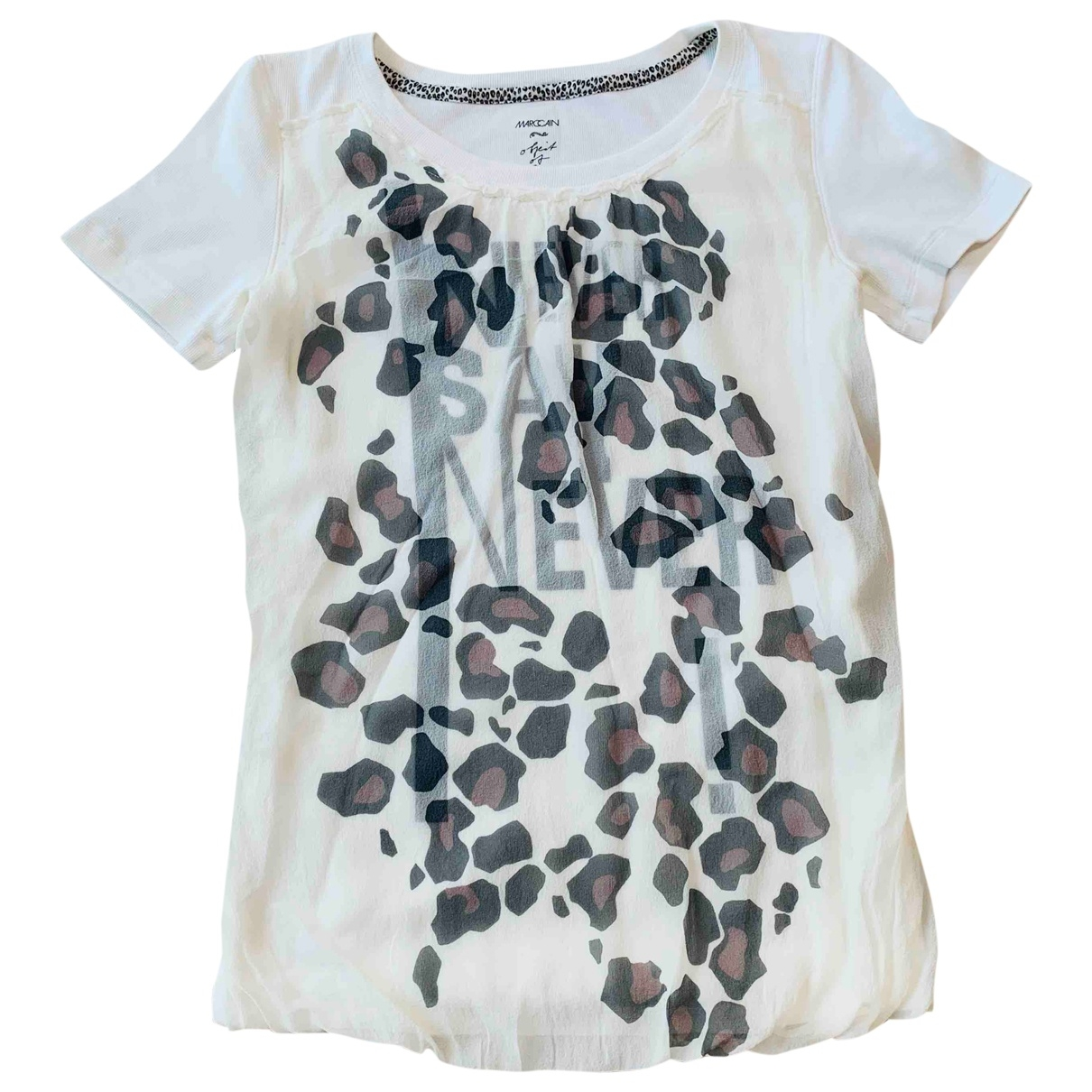 Marc Cain \N White Silk  top for Women 1 US