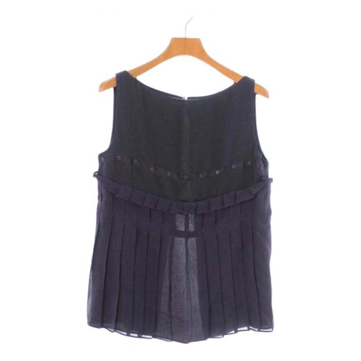 Maison Martin Margiela - Top   pour femme en soie - noir