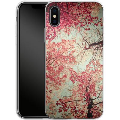 Apple iPhone X Silikon Handyhuelle - Autumn Inkblot von Joy StClaire