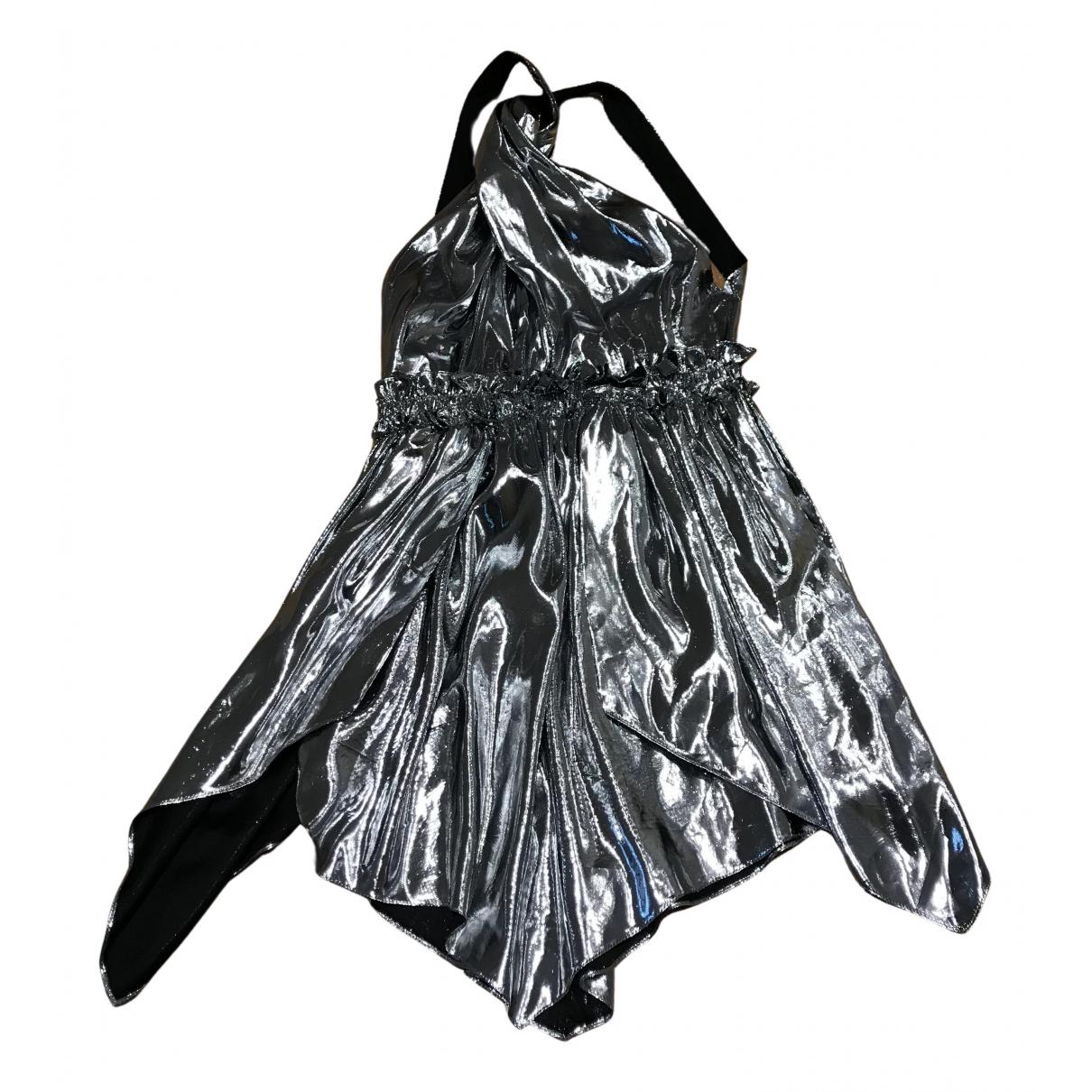 Isabel Marant - Robe   pour femme en soie - argente