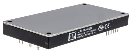 XP Power QSB400 400W Isolated DC-DC Converter PCB Mount, Voltage in 18 → 75 V dc, Voltage out 28V dc