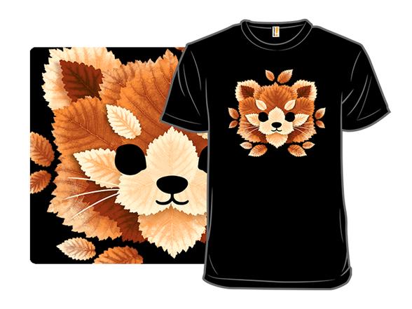Red Panda Leaves T Shirt