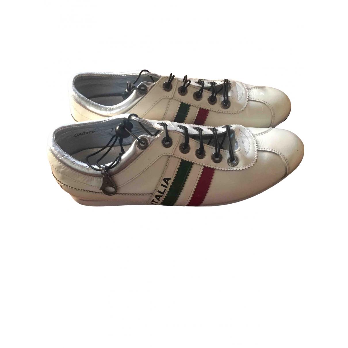 Dolce & Gabbana \N Sneakers in  Weiss Lackleder