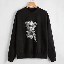 Chinese Dragon Graphic Sweatshirt