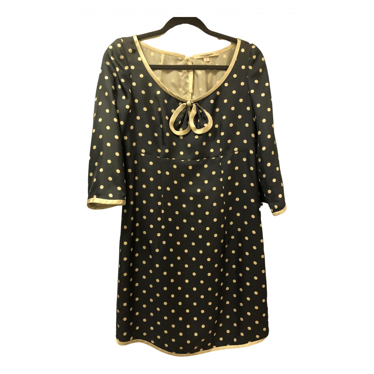 Marc Jacobs \N Navy Silk dress for Women 4 0-5