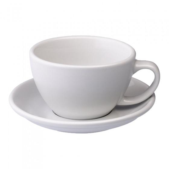 Cafe Latte Tasse mit Untertasse Loveramics Egg White, 300 ml