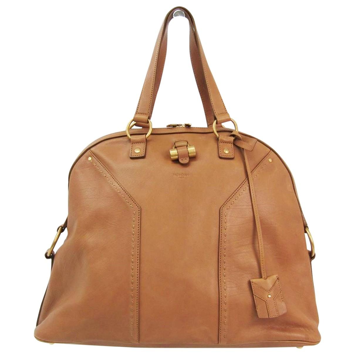 Yves Saint Laurent Muse Camel Leather handbag for Women \N