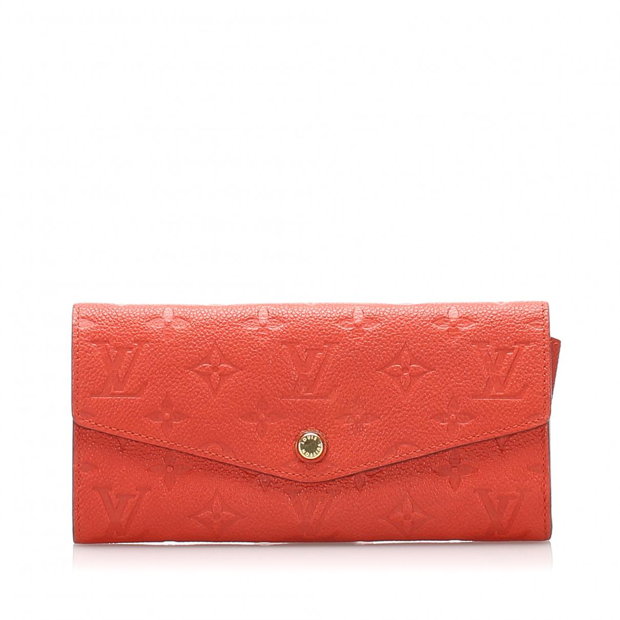Louis Vuitton - Portefeuille   pour femme en cuir - orange