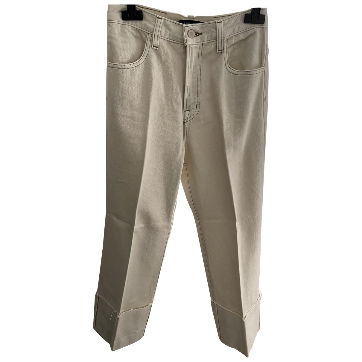J Brand \N Beige Cotton - elasthane Jeans for Women 27 US